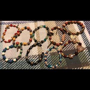 Jewelry - Lot 6 ** 9 home made bracelets